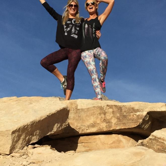 Ashley: Eden Capri Dani: Escape Legging Prism Print + Gamma Sports Bra harvestactive.com