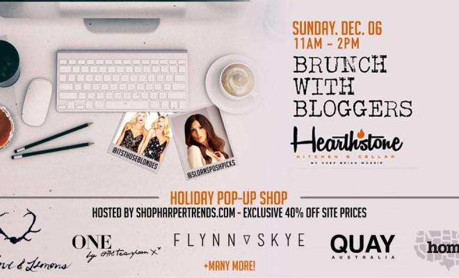 Harper Trends Holiday Pop Up Shop + Brunch at Hearthstone