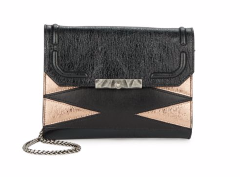 Deal of the Day: DANNIJO Beckett Leather & Metallic Clutch