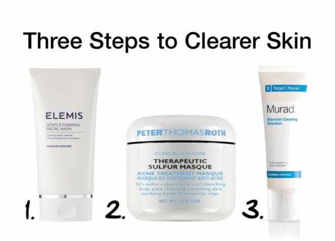 Three Steps to Clearer Skin